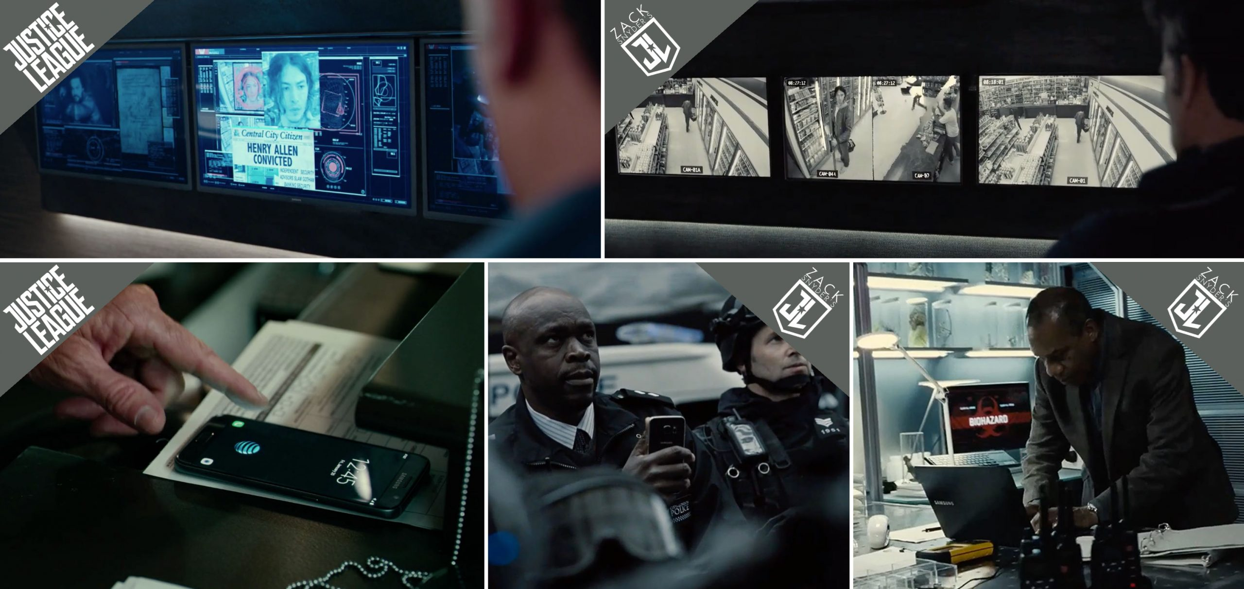 Samsung product placements in Zack Snyder's Justice league