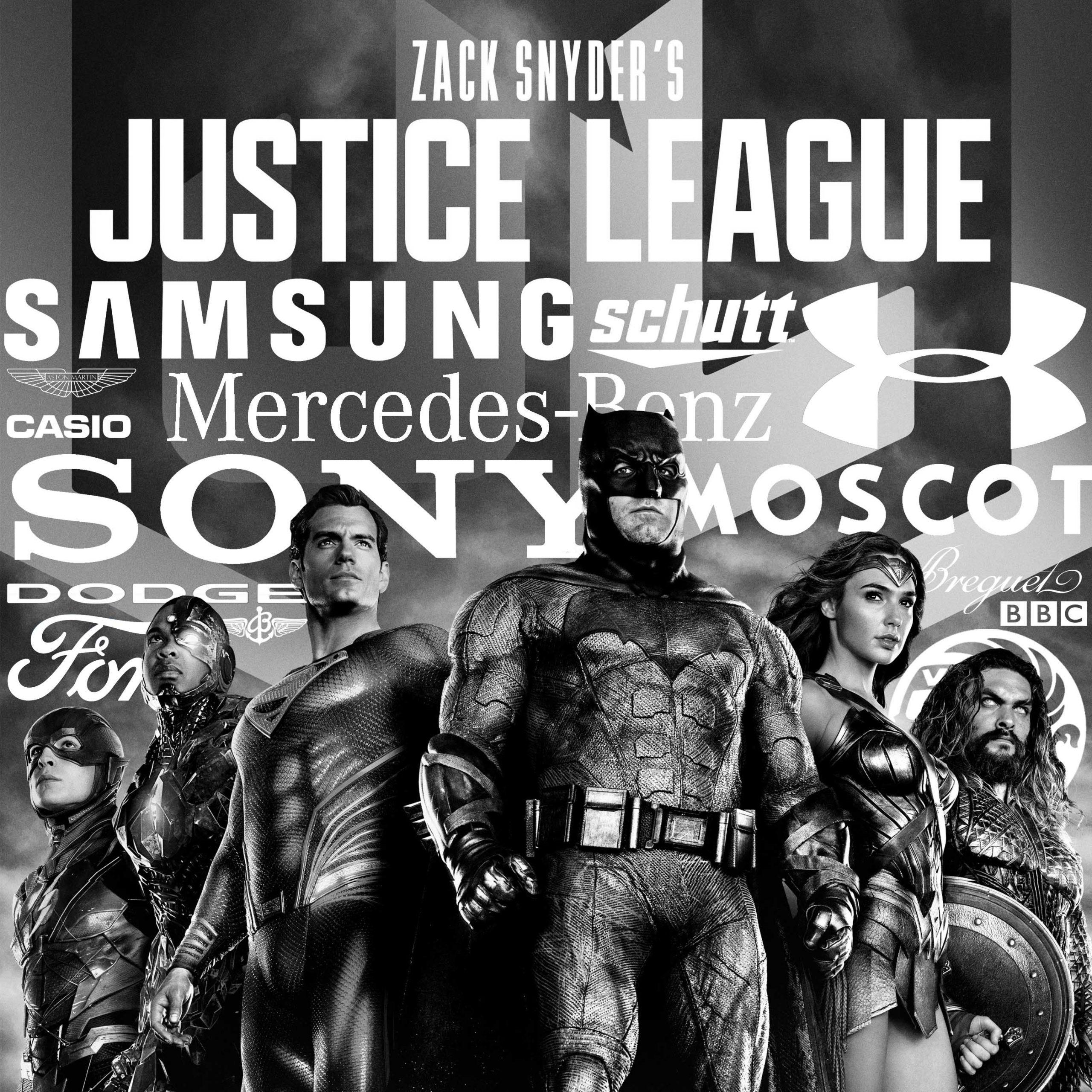 JUSTICE LEAGUE (2017) vs. SNYDER CUT product placement
