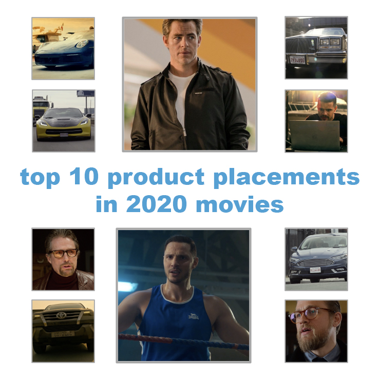 2020 top 10 products placements in movies