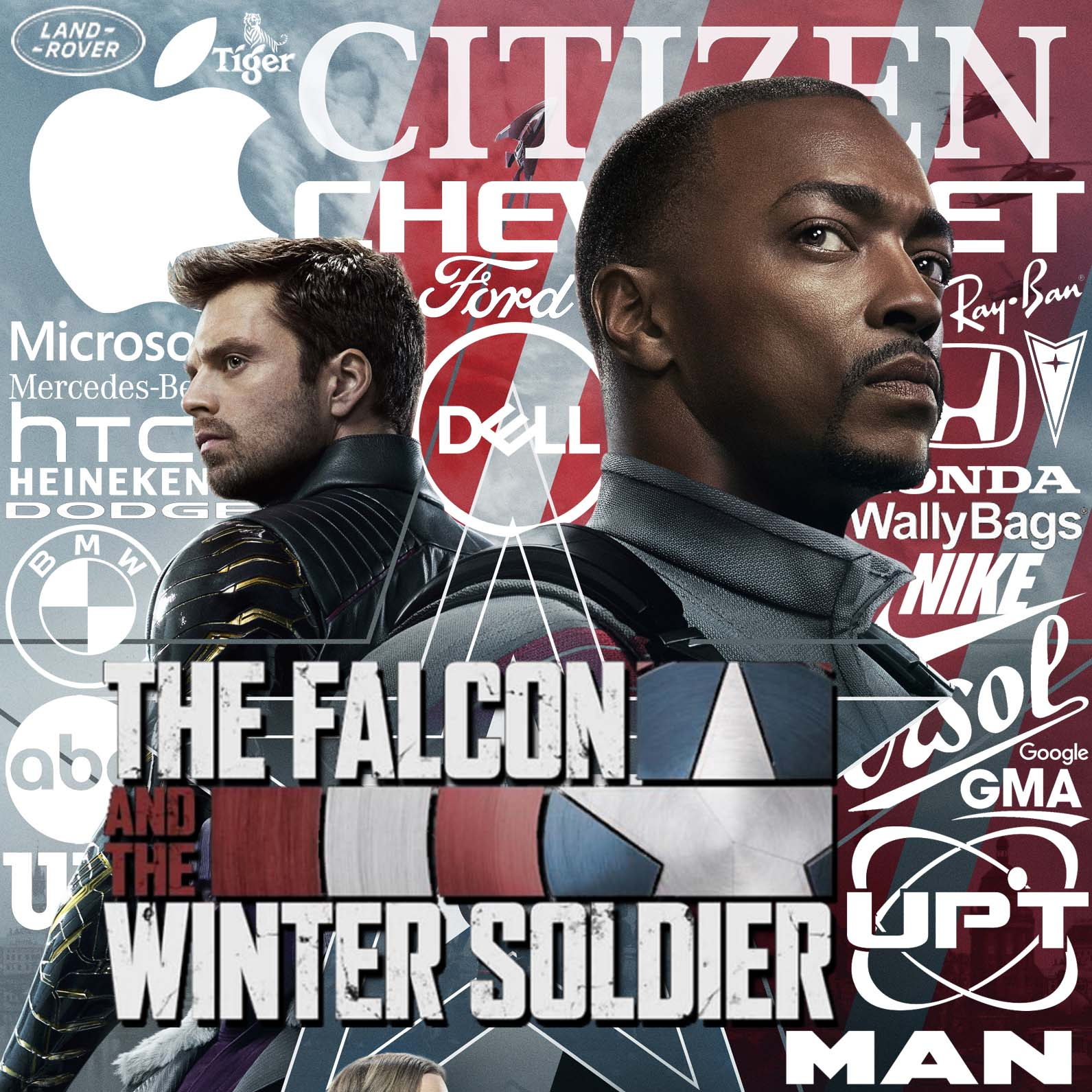 product placement in THE FALCON AND THE WINTER SOLDIER