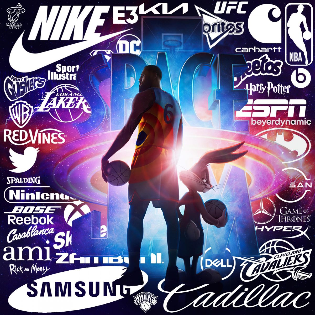prodocut placement brands in Space Jam: A New Leg