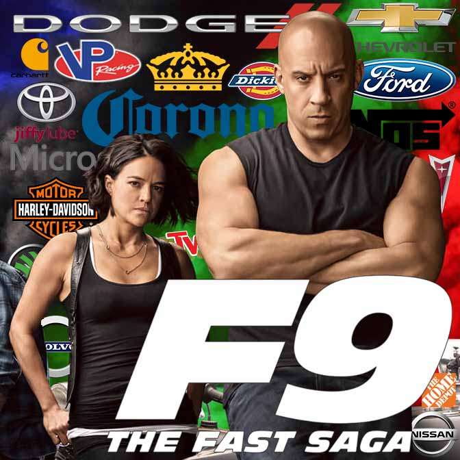 Concave Brand Tracking, product placement, entertainment marketing, marketing, branding, measurement, brand integration, valuation, metrics, analytics, Fast and furious, F9, Fast & Furious, the Fast Saga